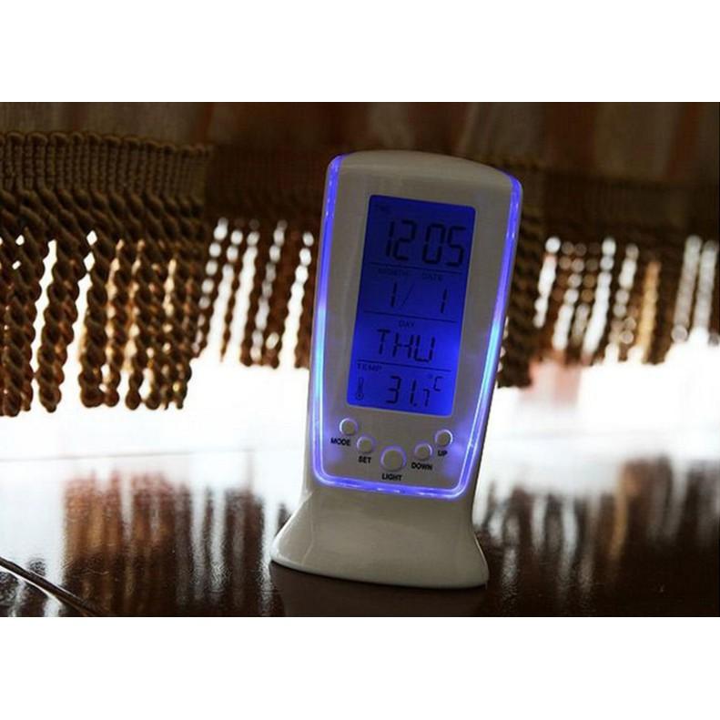 LED鬧鐘長形計時鬧鐘日期溫度星期電子鬧鐘創意靜音背光鬧鐘