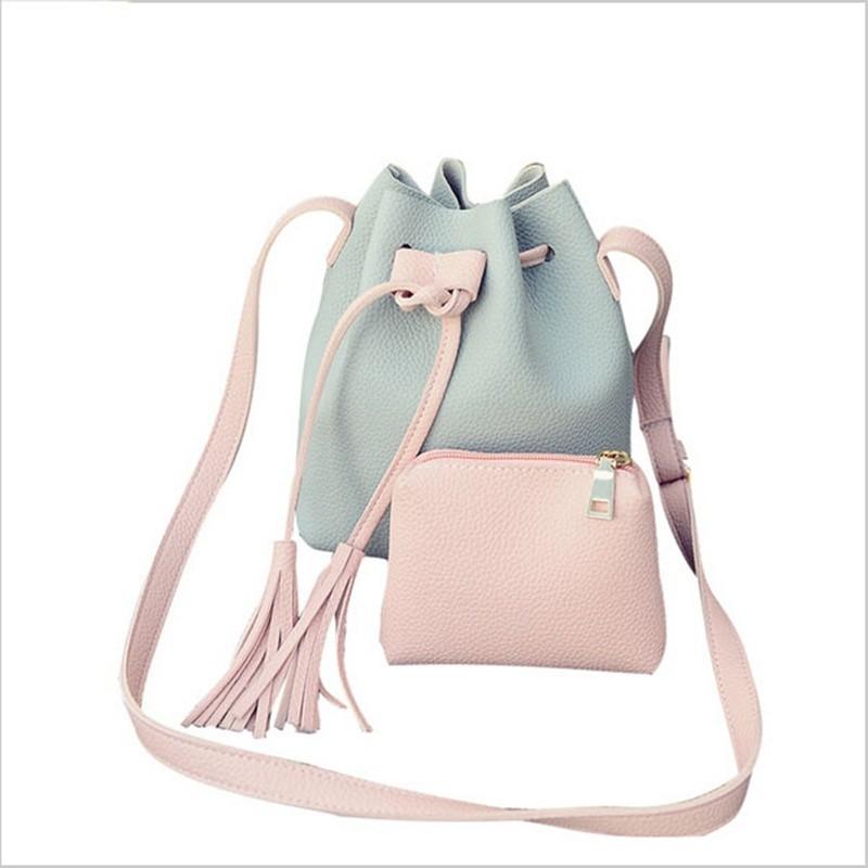 6 PU Leather Crossbody Handbags Organizer Buc