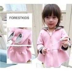 韓國太空棉女孩兒糖果粉紅兔拉鏈外套洋裝長袖內搭褲兒童女童小洋裝上衣褲子長褲空氣棉