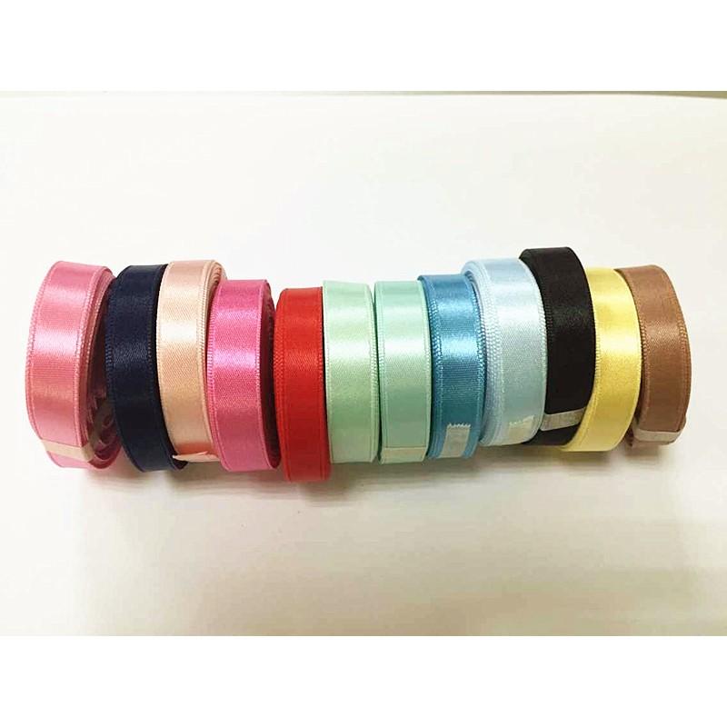 庫存 10 色整組價質優單面緞帶緞面9mm
