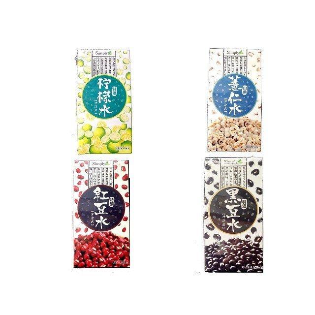 Simply 高倍濃縮 檸檬水紅豆水山藥薏仁水玉米鬚水黑豆水15 包盒~G000635 ~