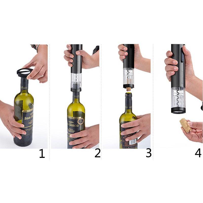 Leegoal 紅酒電動開瓶器黑色ABS 食品級pc 食品級矽膠33 8 5CM 盒裝