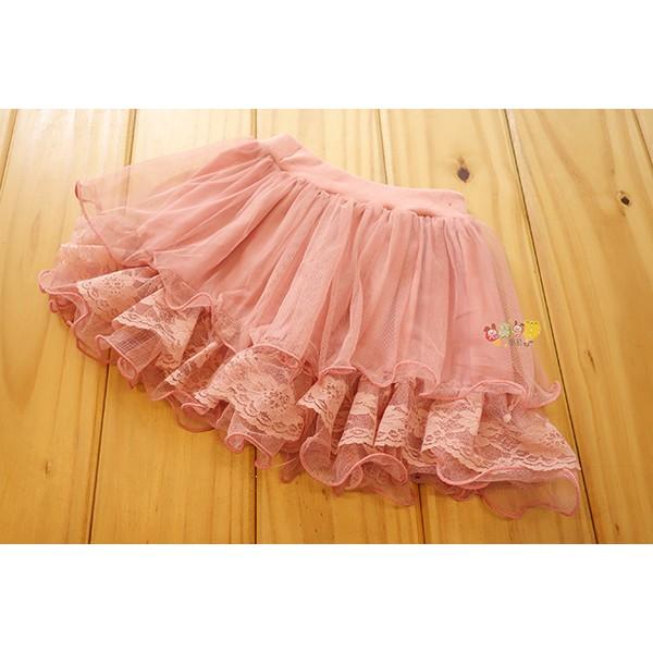 2735 中小童5 17 號浪漫粉藕色蕾絲多層紗裙蓬蓬裙