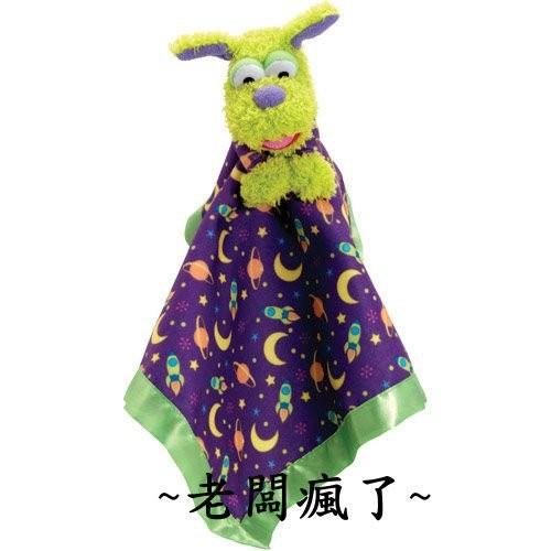 1 5 點TOMY /Pajanimals 系列~細絨布緞面大安撫巾玩偶巾綠色正品尾貨非仿