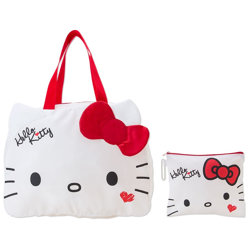 日貨白色Kitty 臉型行李掛袋