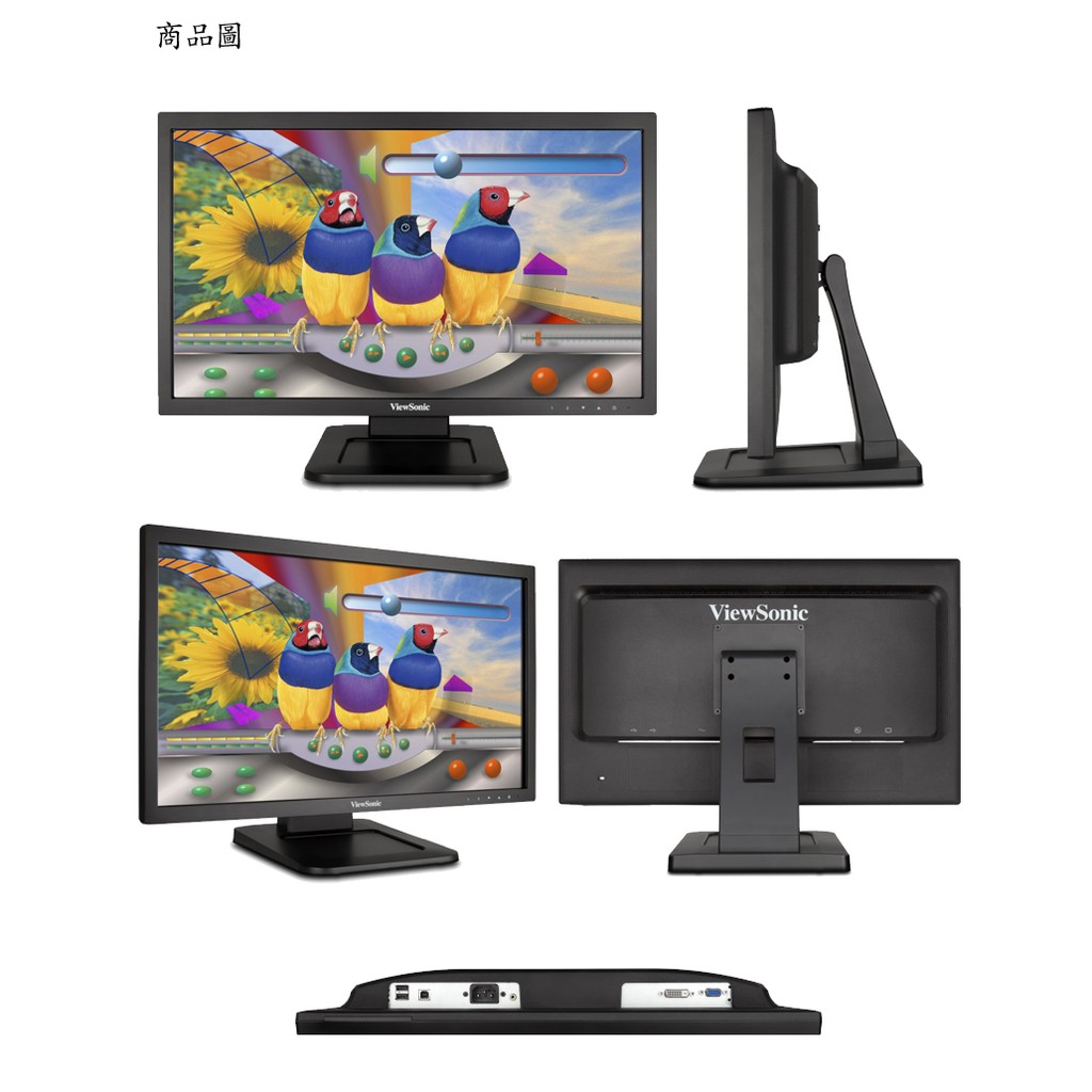 VIEWSONIC TD 2220 2 22 吋Full HD 1080p 光學觸控顯示器