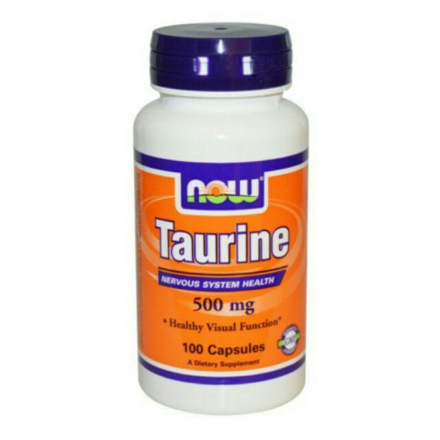 Now Foods 牛磺酸Taurine 500 mg 100 顆