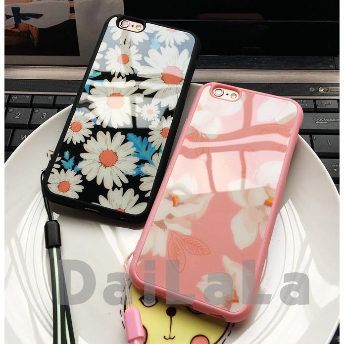 iphone 雛菊印花亮面送掛繩手機殼手機套保護套軟殼T210