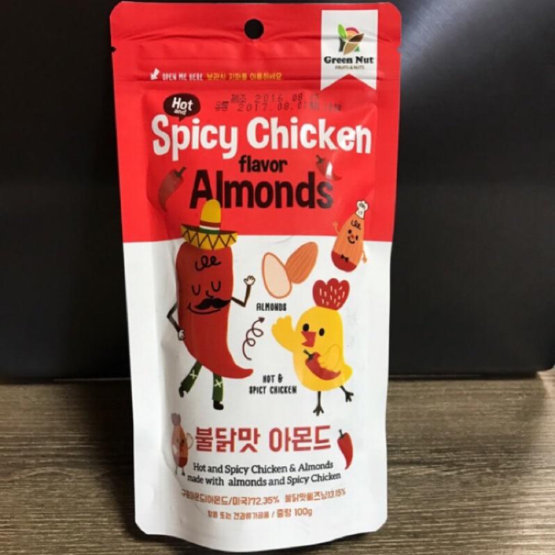 韓國到貨囉~辣雞風味杏仁果杏仁豆 包裝
