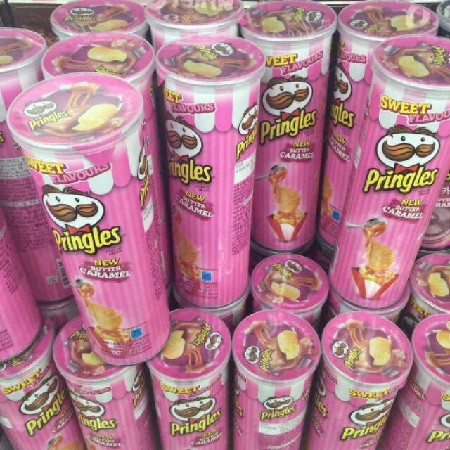 韓國限定粉紅品客奶油焦糖口味洋芋片 可