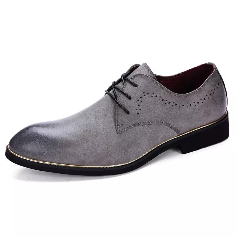 尖頭皮鞋男英倫雕花髮型師潮增高男鞋 布洛克商務休閒鞋xz086