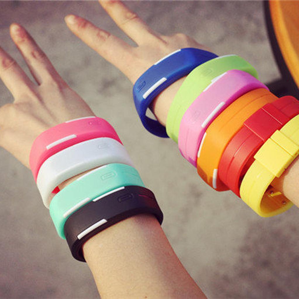 韓國Ulzzang 潮流原宿糖果色LED 觸控手錶果凍錶 手環手鐲手錶