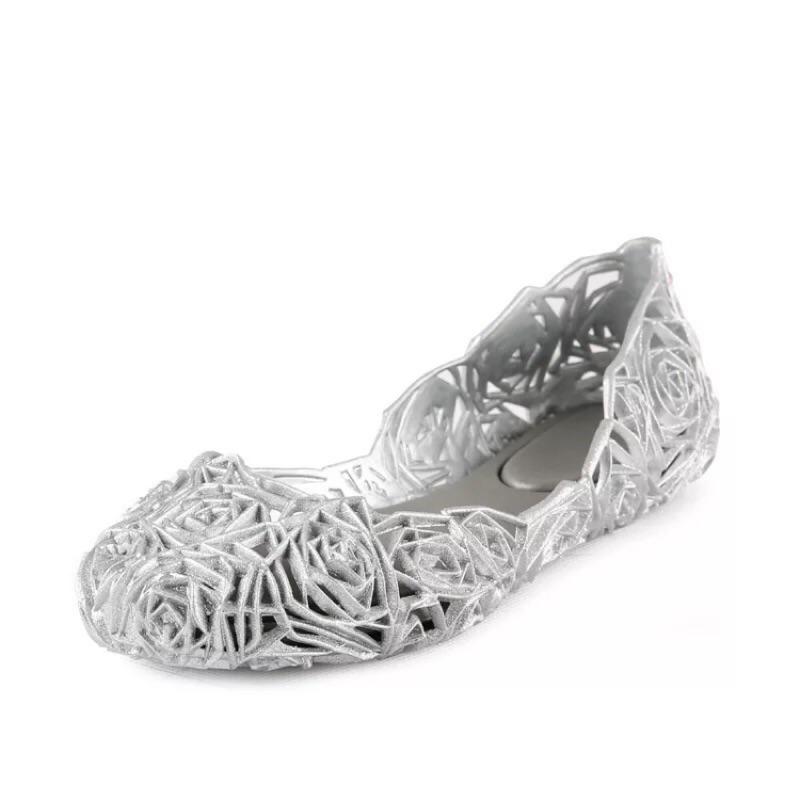( )Melissa 同款鳥巢玫瑰花鏤空鞋