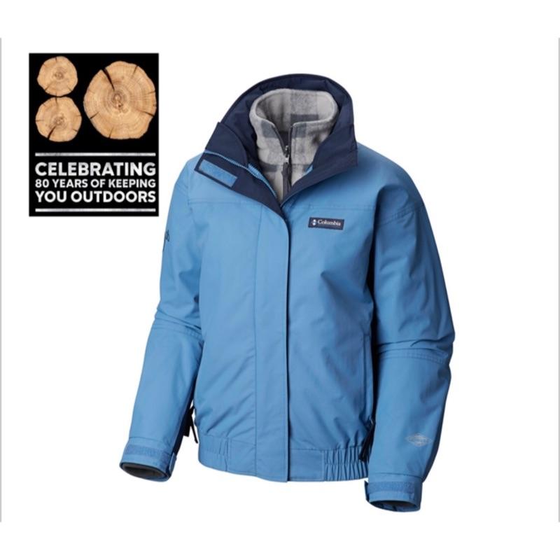 JC代購 Columbia 哥倫比亞女款-80周年經典復刻Omni-TECH防水刷毛兩件式外套 台灣訂價$9800