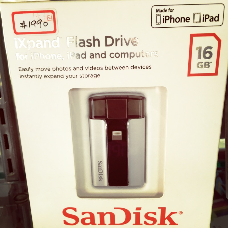 Sandick ixpand 16g iPhone iPad 16g Apple otg