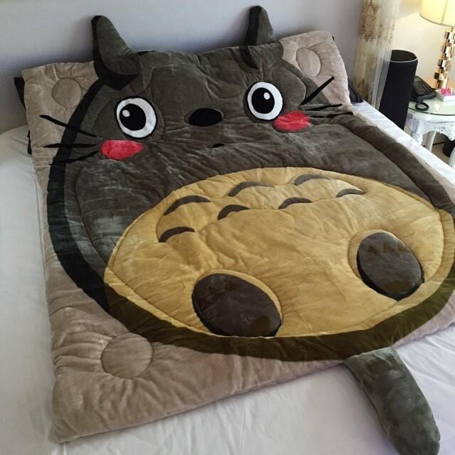 法蘭絨毯被、暖暖被灰綠多多龍龍貓、紫色貓頭鷹不介意捲被包裝,可 取貨