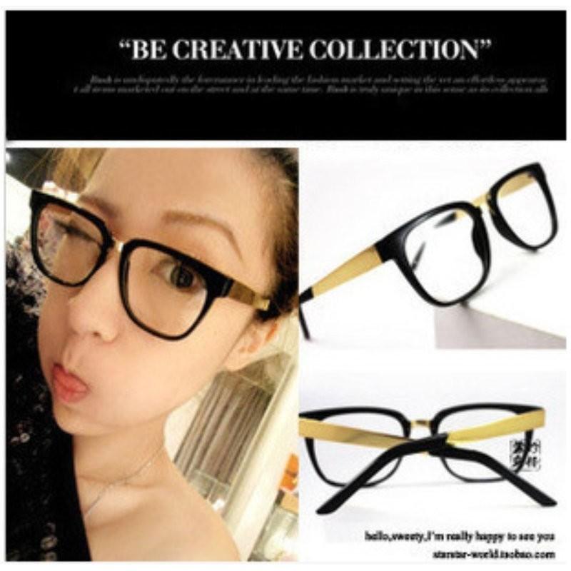 復古明星同款 金屬合金鏡架金邊平光鏡男女潮牌黑框眼鏡可配有度數眼鏡要配度數要自行處理