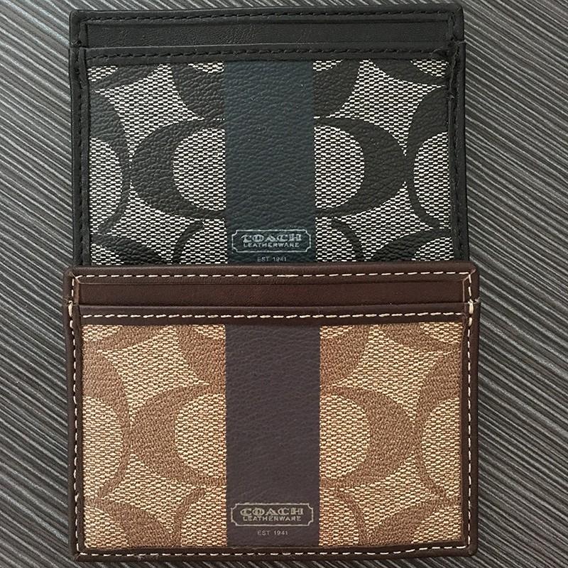 琪琪美國Coach PVC 紙鈔夾名片夾信用卡夾男款雙面信用卡夾名片卡夾