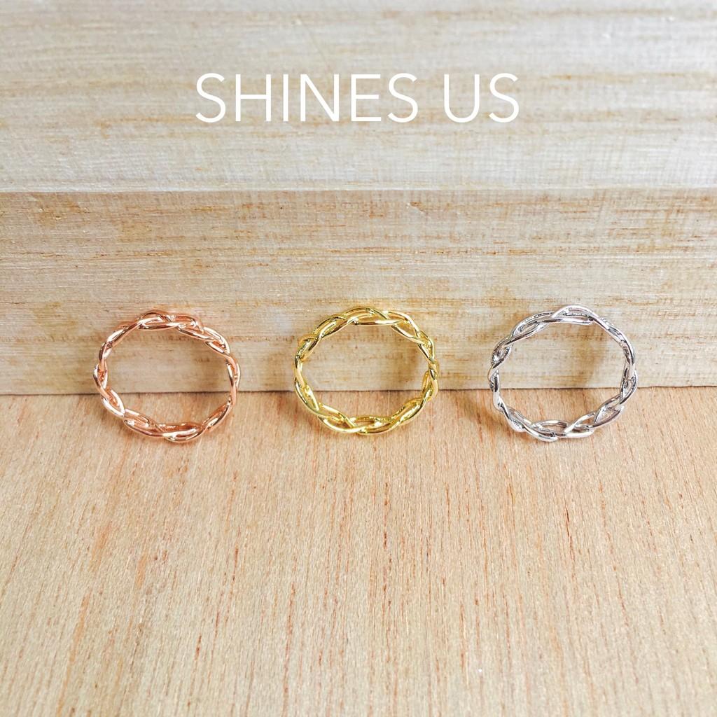 正韓鏤空辮子戒指戒指