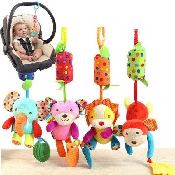 ~愛漂漂~~M004 ~嬰兒音樂玩具新生兒動物安撫玩偶音樂搖鈴固齒器床鈴床掛嬰兒推車掛件安