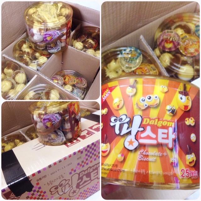~妳好,可愛~韓國童鞋新鮮貨韓國巧克力牛奶餅乾球 中小桶專區