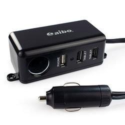~多元也~附發票4 8A 車充aibo AB437 車用帶線點煙器3 組USB 1M 延長