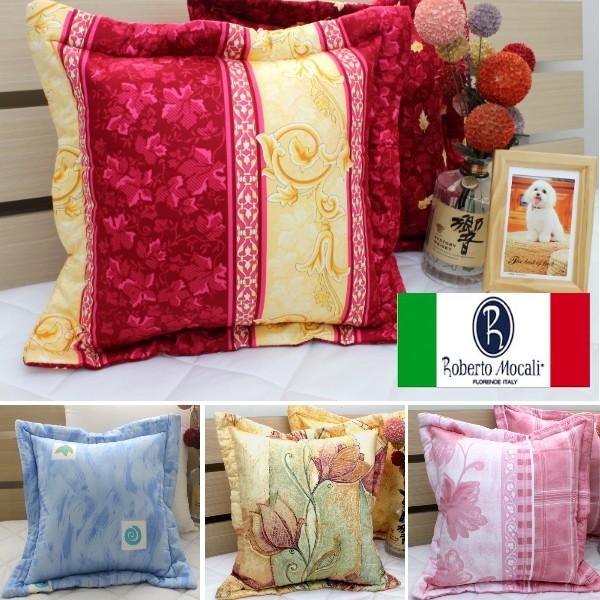 印花精梳棉方形抱枕套40X40cm ~Roberto Mocali 諾貝達莫卡利~100