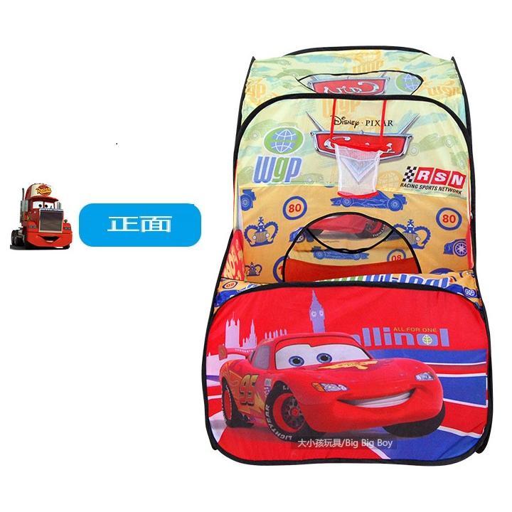 小饅頭本舖汽車總動員海洋球帳篷兒童玩具池海洋球池圍欄寶寶遊戲屋室內遊戲池50 顆球