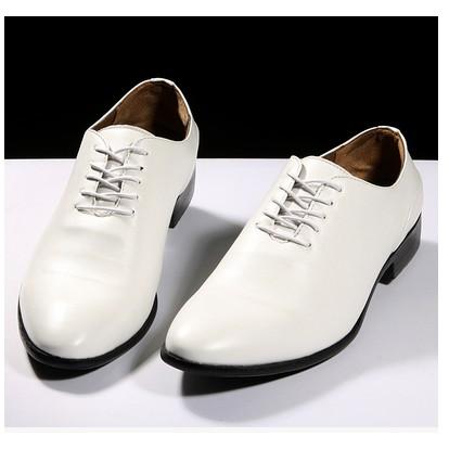 男士白色皮鞋英倫 男婚鞋影樓尖頭休閒潮流男鞋白鞋3067