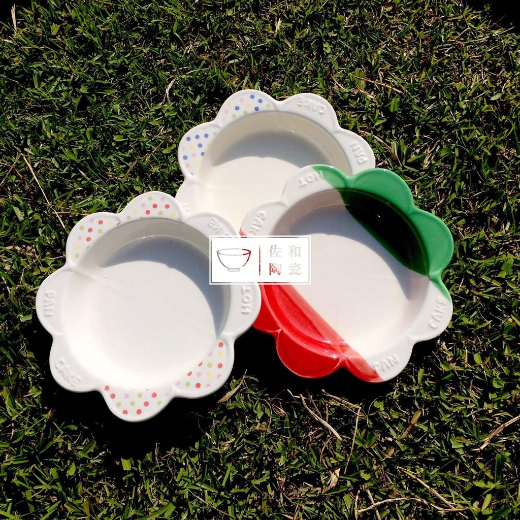佐和陶瓷餐具~XL050327 6 花形耐熱烤皿 製~烤盤點心盤烤鬆餅 盤