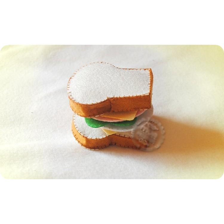 ~免剪裁~不織布 DIY 材料包早餐火腿起司蛋吐司三明治扮家家酒親子遊戲