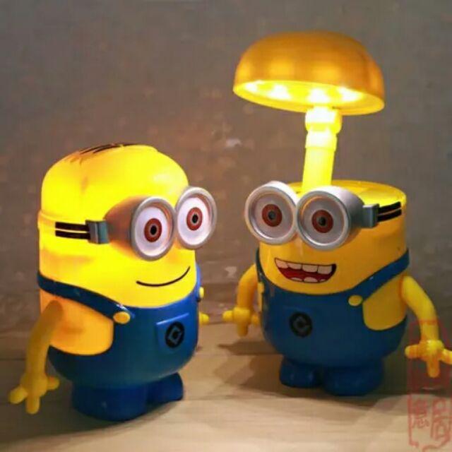 3 合1  卡通小小兵學生兒童小台灯小檯燈小夜燈存錢筒罐LED 文具