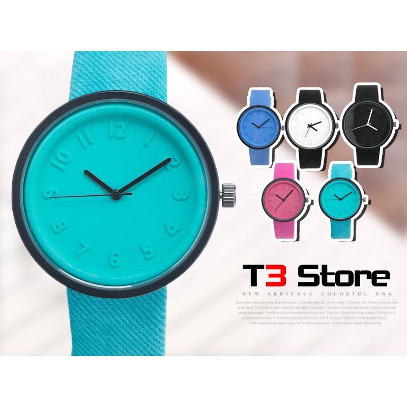 ~T3 ~果凍糖果色五色中性錶手錶對錶石英錶防水濺可愛休閒簡約 潮流~H78 ~