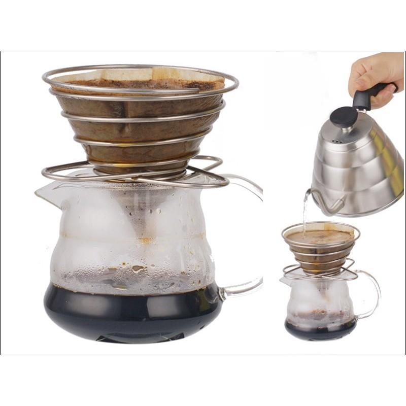 G02 彈簧濾杯架咖啡濾架便攜過濾架伸縮手沖架1 4 杯用不占空間