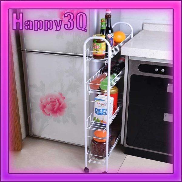 客廳浴室廚房可拆卸可移動活動輪組裝狹縫夾縫收納置物架多尺寸~AAA0642 ~