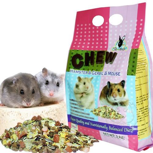 ~幸福培菓寵物~英國Pet Village ~綜合均衡倉鼠│沙鼠│全鼠類主食‧1kg ~P