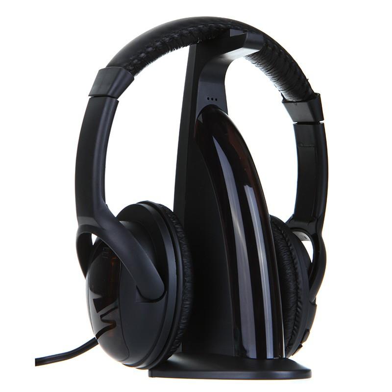 ~ ~無線藍牙耳機頭戴式耳罩式軟耳墊皮革FM 收音機監聽器