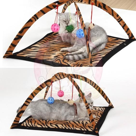 貓咪玩耍健力架吊床~豹紋款貓玩具逗貓棒貓草貓薄荷