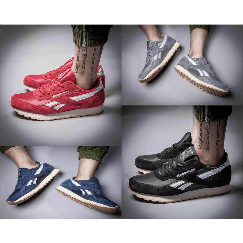Reebok Paris Runner 巴黎反毛皮豬八革 6 色男款慢跑鞋休閒鞋