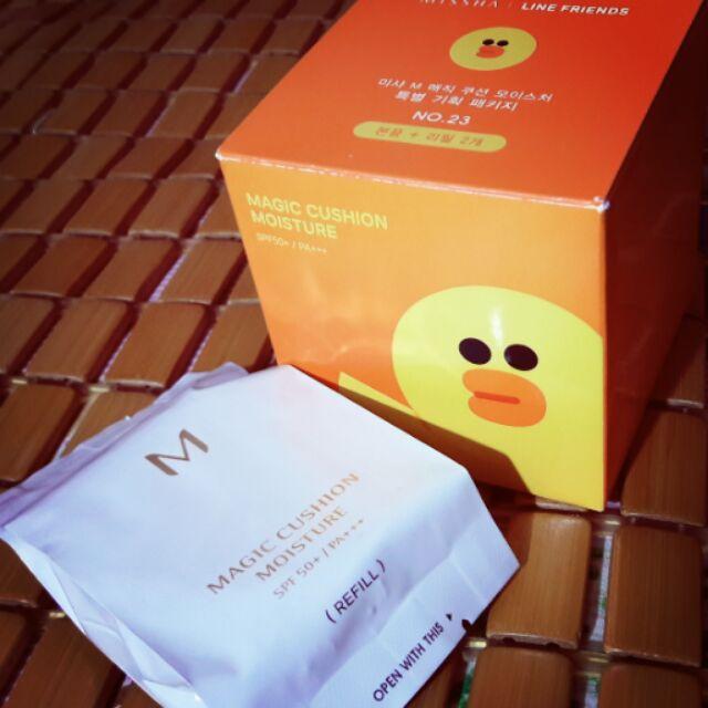 MISSHA LINE 聯名莎莉氣墊粉餅保濕保溼23 號補充包補充蕊