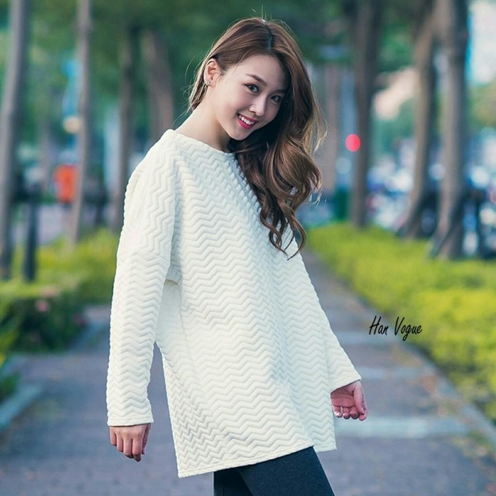 正韓幾何凸面橫條紋棉質寬鬆T 慵懶在家隨興出門都好穿共3 色韓衣風格
