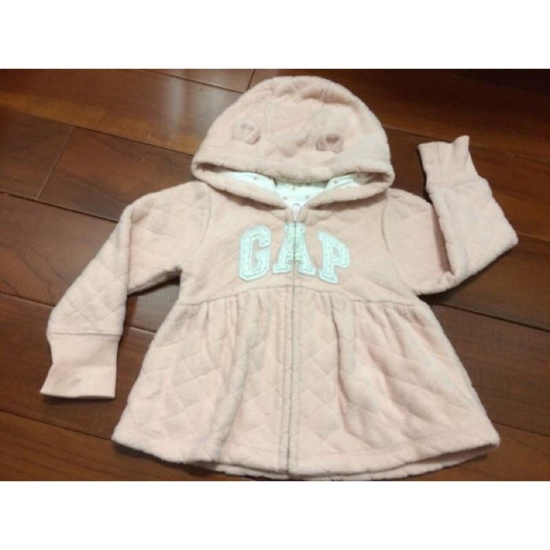 購於美國Gap 香香風熊耳朵連帽外套18M