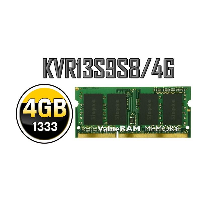 ~小展~金士頓KINGSTON NB 筆電用DDR3 1333 4G 單面KVR13S9S