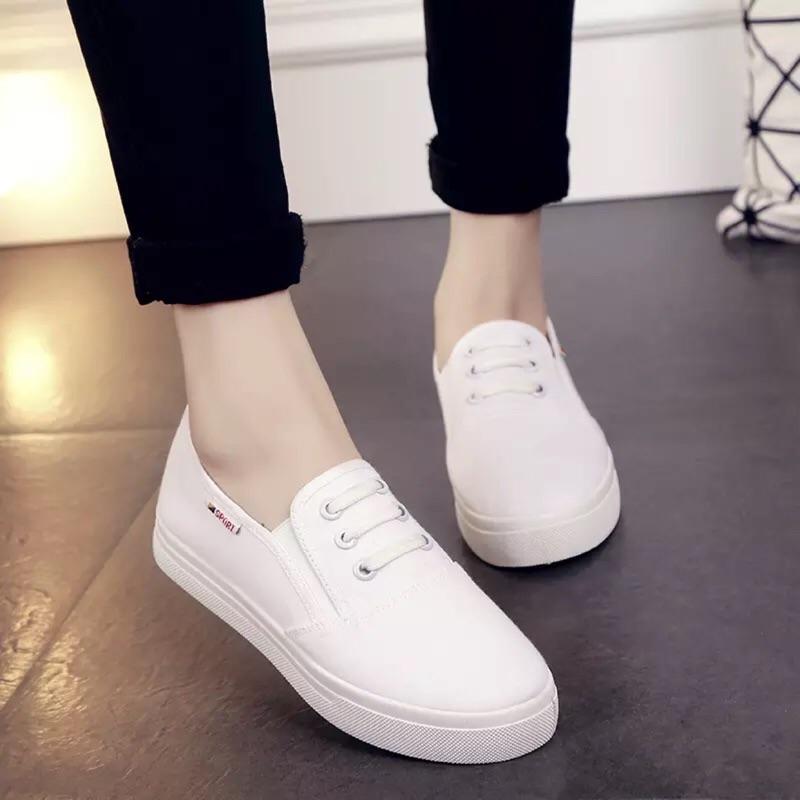 小白鞋板鞋厚底懶人鞋