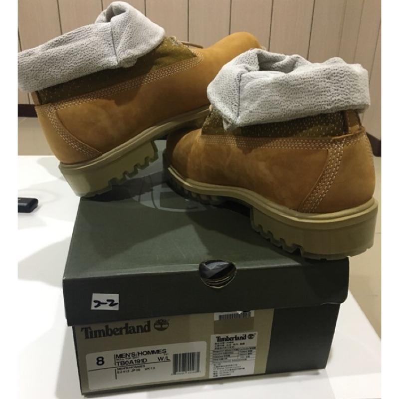 Timberland 男款小麥黃漸層布面反折靴優惠價3000