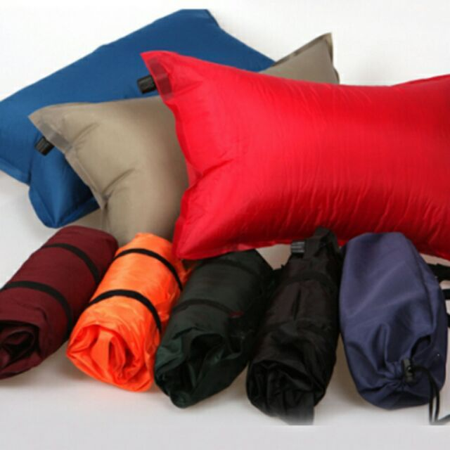 ~ ~自動充氣枕頭午休睡枕旅行枕靠墊戶外帳篷枕頭野營
