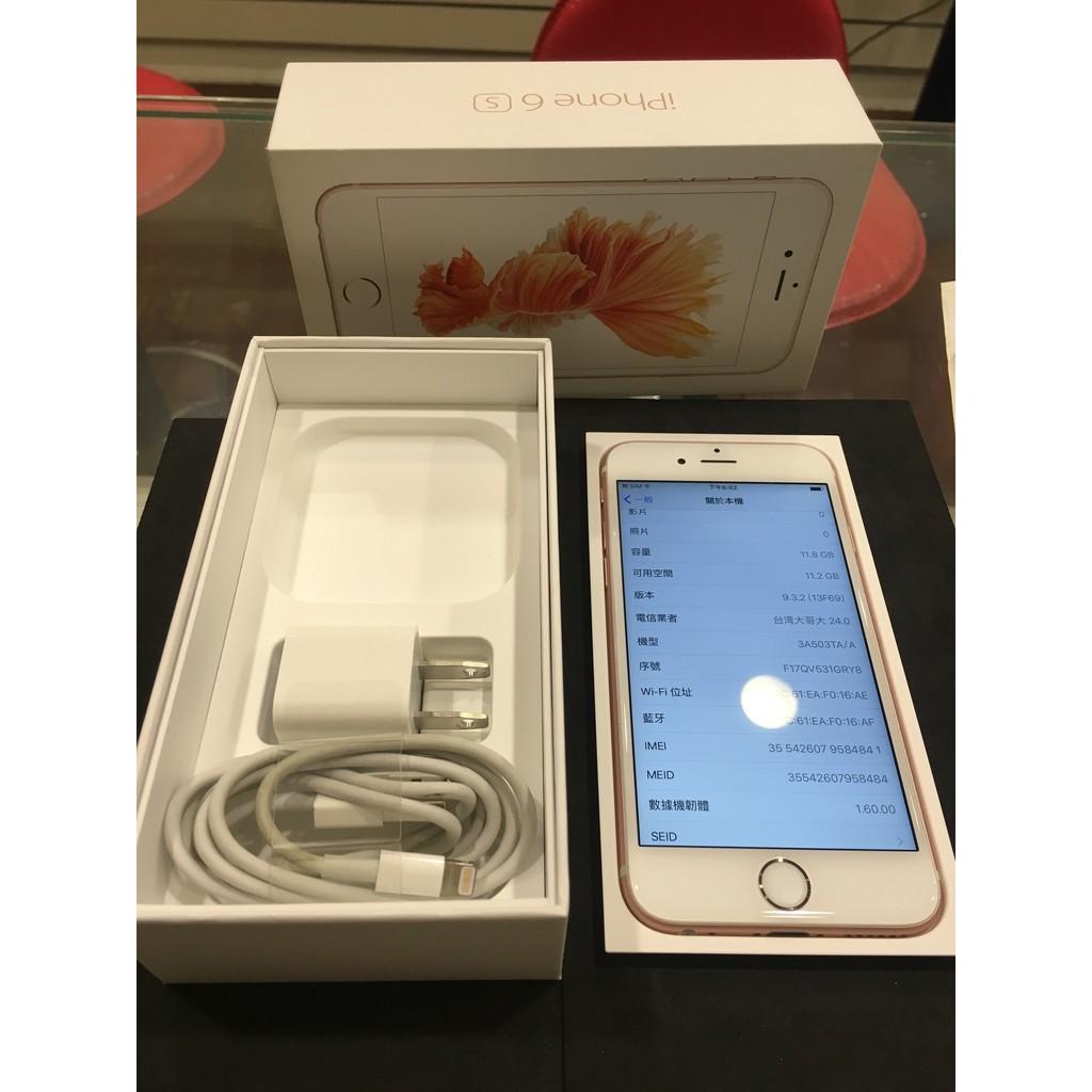~永和樂曄通訊~ 9 8 成新iphone 6s 16G 4 7 吋玫瑰金外觀漂亮 正常盒