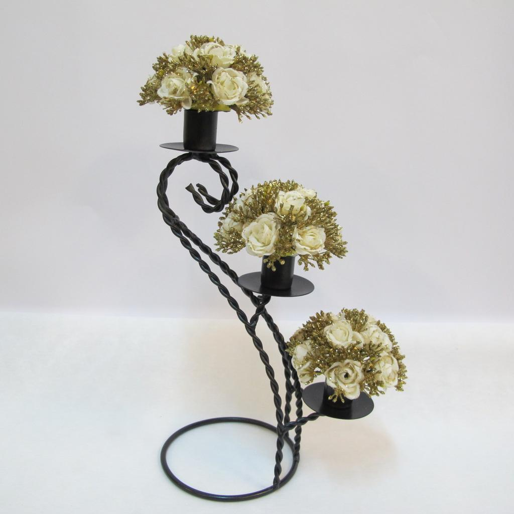~樂提小舖~06016 高帽紳士燭台  蠟燭台鐵製燭臺傢飾裝飾蠟燭台金屬燭台