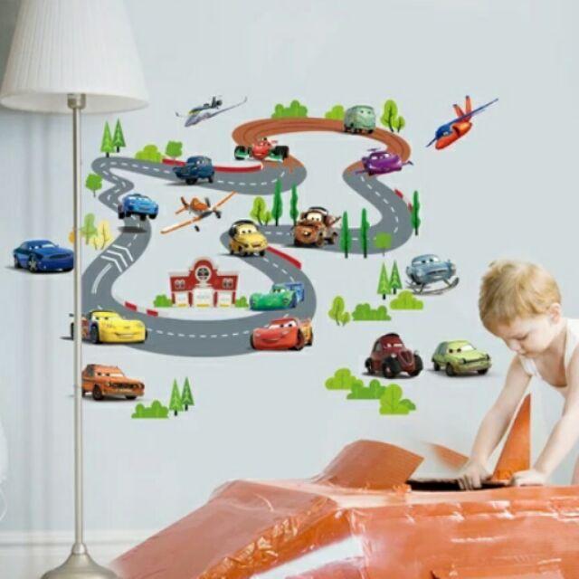 大米米雜貨 汽車總動員汽車車車子賽車pvc 壁貼牆貼