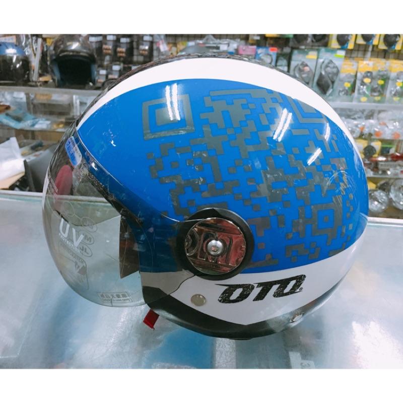QR Code 彩繪安全帽OTO 機車3 4 安全帽復古帽PN 781 海鳥牌